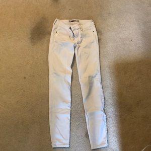 Abercrombie white skinny jeans